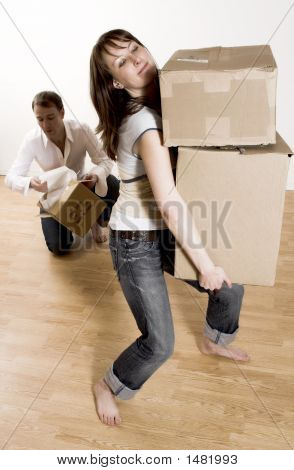 Couple Moving In Appartment