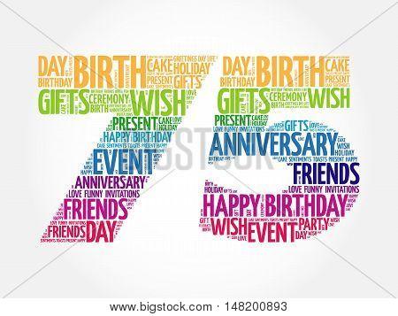 Happy 75th Birthday Images Illustrations Vectors Happy 75th