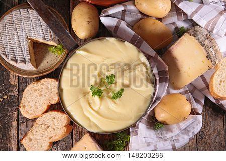 potato and cheese fondue