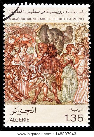 ALGERIA - CIRCA 1980 : Cancelled postage stamp printed by Algeria, that shows Mosaic.