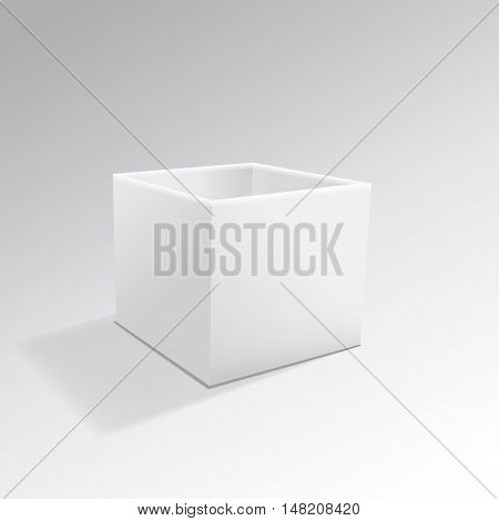 Opened White Package Box isolated on a white background