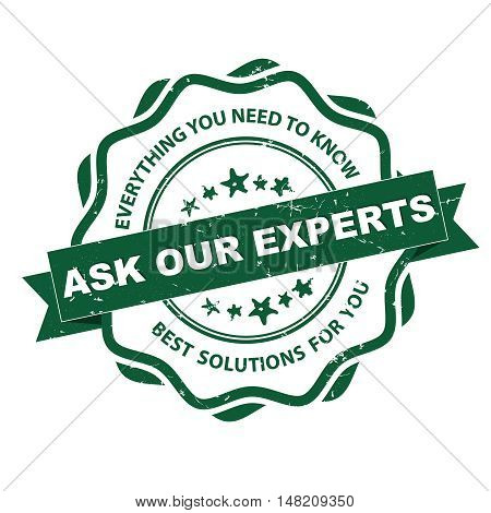 Ask our experts. Everything you want to know. Best solutions for you - grunge business label / ribbon for consulting agencies. Print colors used