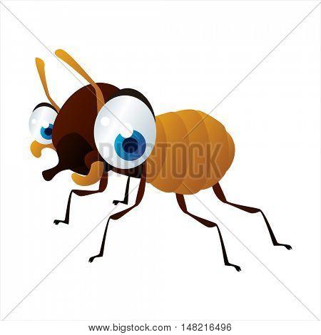 vector cartoon cute animal mascot. Funny colorful cool illustration of happy Termite