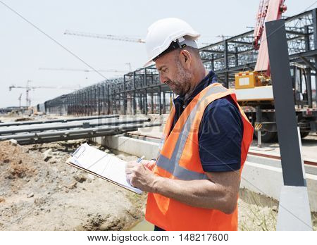 Architect Contractor Professional Building Career Concept poster