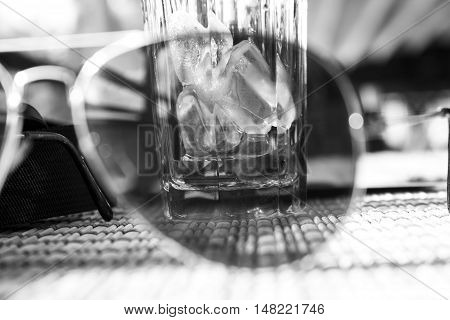 Ice Cubes Viewed Trough Sunglasses