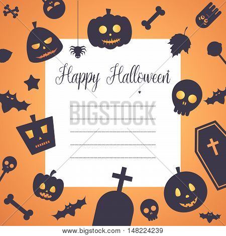 Halloween Celebration Night Party Invitation Card Background