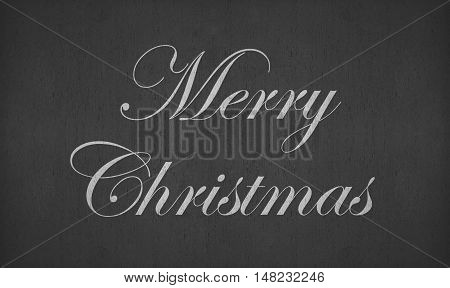 merry christmas text on blackboard or chalkboard
