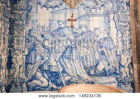 Azulejo In The Monastery Of Santa Cruz (coimbra)