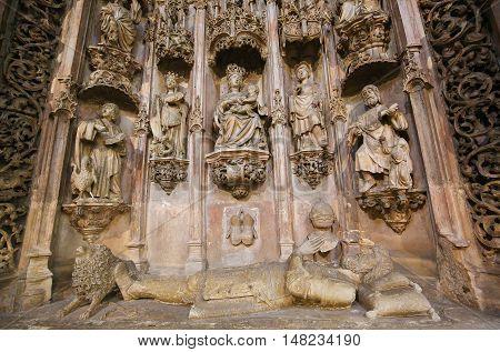 Tomb Of King Sancho I In Monastery Of Santa Cruz (coimbra)