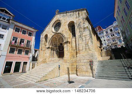 Medieval Santiago Church In Coimbra, Portugal