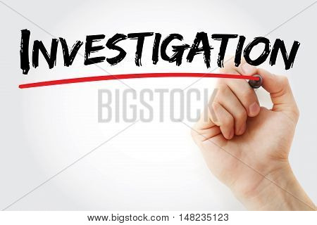 Hand Writing Investigation With Marker