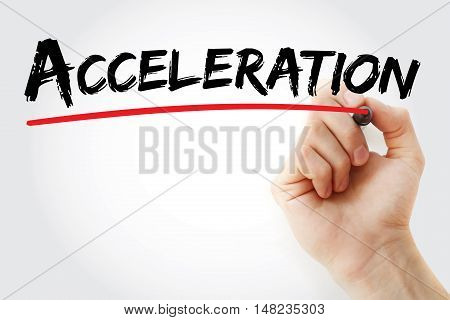 Hand Writing Acceleration With Marker