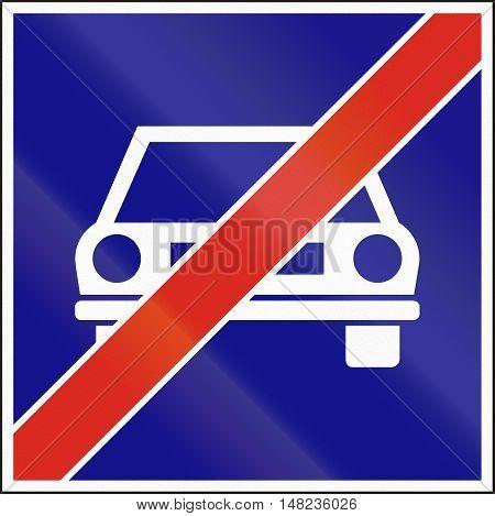 Hungarian Regulatory Road Sign - End Of Main Highway
