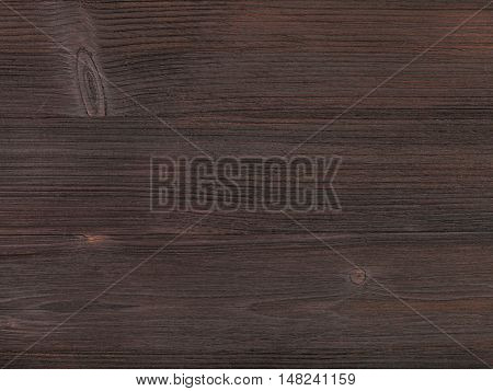 Wooden Surface Of Dark Brown Color Close Up