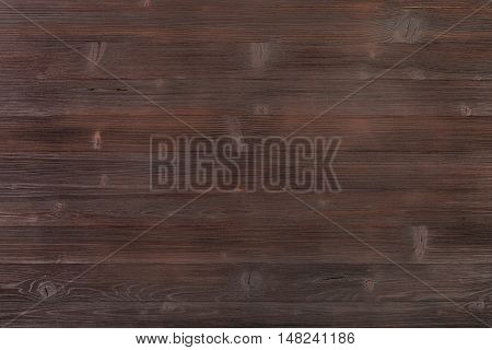 Wooden Surface Of Dark Brown Color