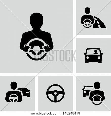 Car Driver Vector Icons