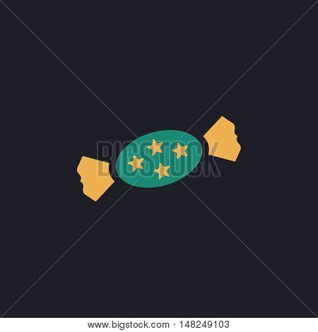 bonbon Color vector icon on dark background