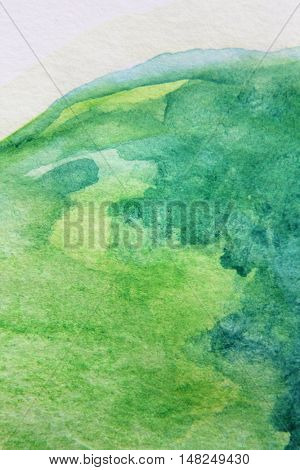 Macro Green with Blue Watercolour Textures 3