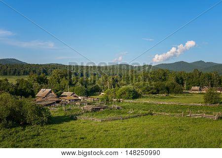 Russian remote place. Khakassia Siberia Russia year 2016.