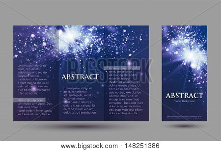 Design templates collection for banners, flyers, placards and posters. Bokeh light design.  Vector illustration