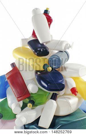 pile of plastic bottles
