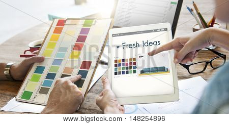 Fresh Ideas Be Creative Inspiration Design Logo Concept
