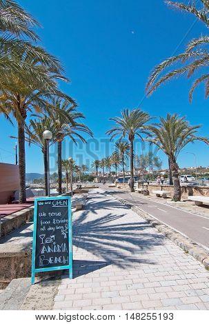 Anima Beach Bar Next To Bicycle Route