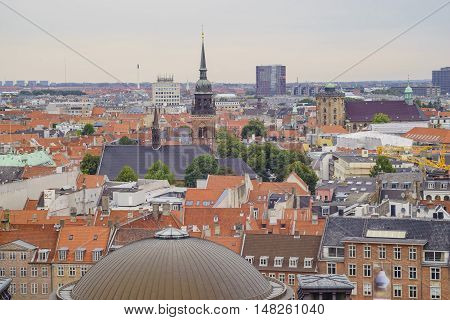 Superb Aerial View From Christiansborg Palace