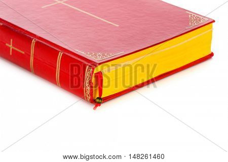 Closeup of Book of Sinterklaas isolated on white backgroud. Part of a Dutch Santa tradition