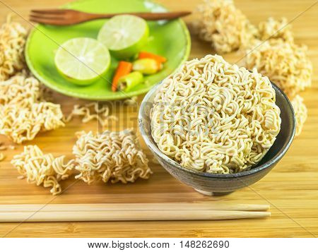 Instant asian noodle ready to quick for eat