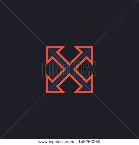 Enlarge Color vector icon on dark background