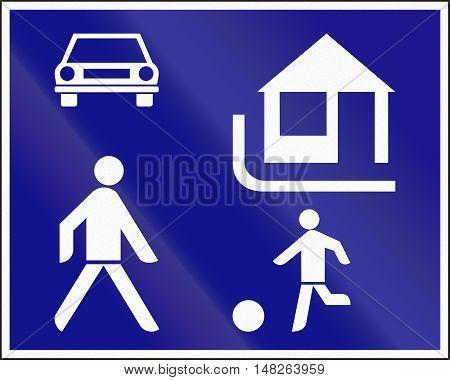 Hungarian Regulatory Road Sign - Recreation Area