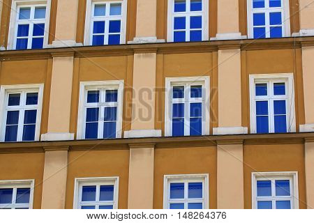 Architecture of Wroclaw Poland Europe. City centre Colorful historical Market square tenements.Lower Silesia Europe.