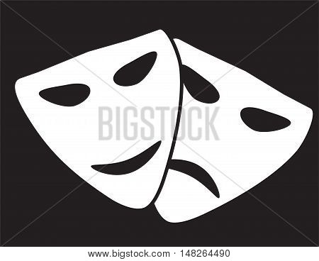 Theater masks. comedy and tragedy theatrical masks