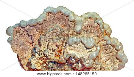 Mineral calcite and dolomite on white background