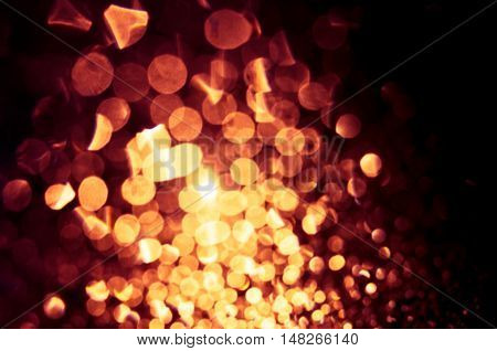 Defocused Abstract Golden Lights