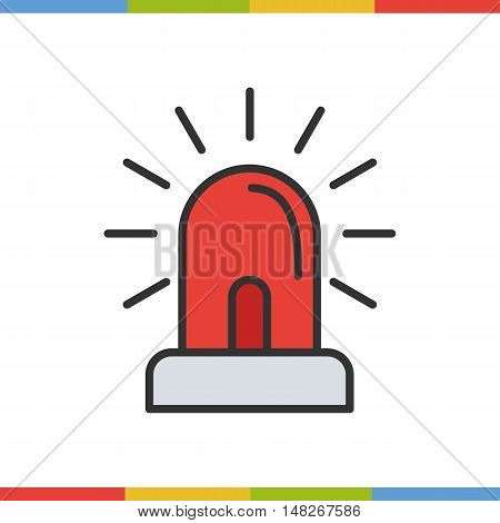 Flasher color icon. Grey and red. Isolated vector illustration