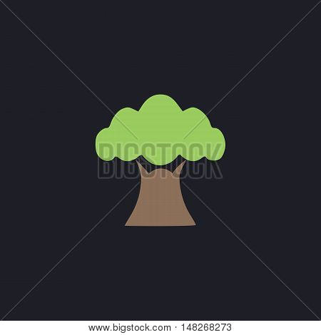 Baobab Color vector icon on dark background