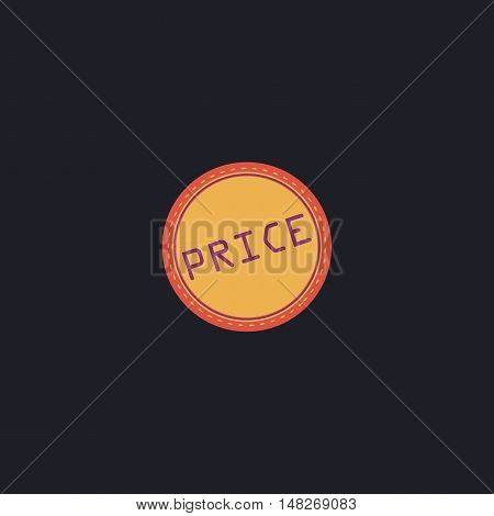 Price Color vector icon on dark background