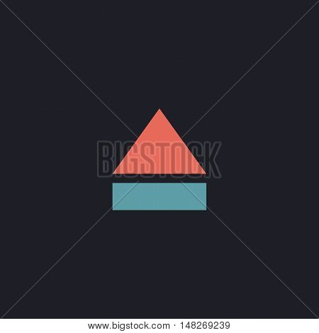 Eject Color vector icon on dark background