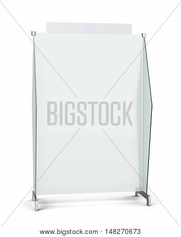 Screen Partition Isolated On White Background. 3D Rendering
