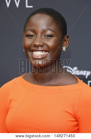 Madina Nalwanga at the Los Angeles premiere of 'Queen Of Katwe' held at the El Capitan Theatre in Hollywood, USA on September 20, 2016.