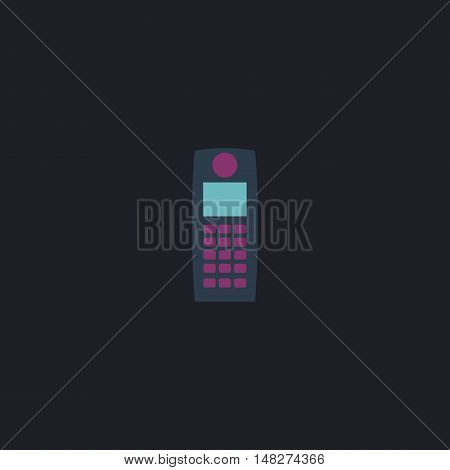walkie talkie Color vector icon on dark background
