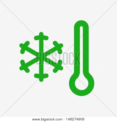 Temperature regulation im smart home. Termostats icon. Flat design vector illustration. Isolated on white background