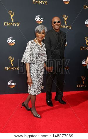 LOS ANGELES - SEP 18:  Cicely Tyson, escort at the 2016 Primetime Emmy Awards - Arrivals at the Microsoft Theater on September 18, 2016 in Los Angeles, CA