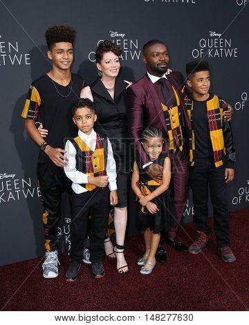 LOS ANGELES - SEP 20:  Jessica Oyelowo, David Oyelowo, family at the