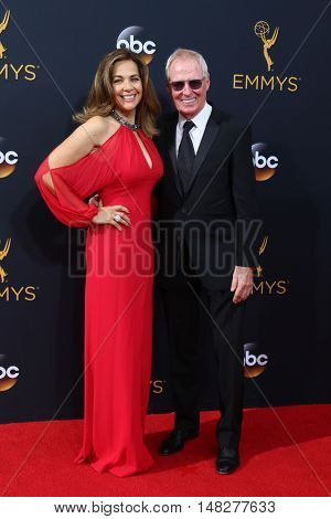 LOS ANGELES - SEP 18:  Elise Doganieri, Bertram van Munster at the 2016 Primetime Emmy Awards - Arrivals at the Microsoft Theater on September 18, 2016 in Los Angeles, CA
