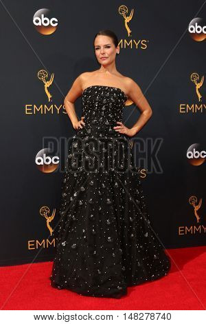 LOS ANGELES - SEP 18:  Yara Martinez at the 2016 Primetime Emmy Awards - Arrivals at the Microsoft Theater on September 18, 2016 in Los Angeles, CA