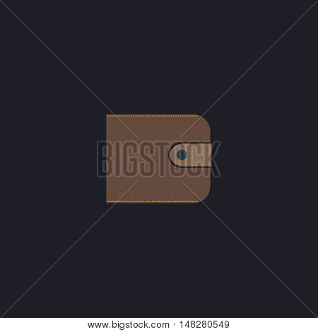 Wallet Color vector icon on dark background