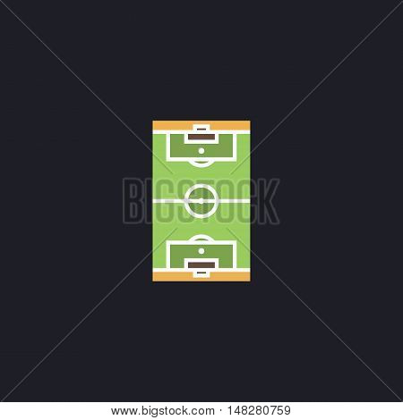 football field Color vector icon on dark background